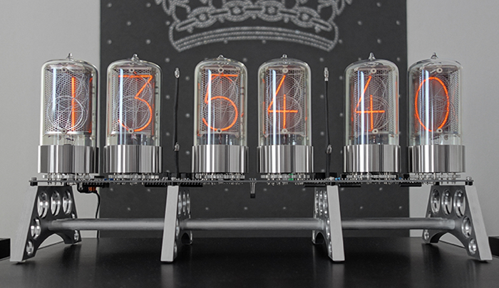 "nixie clock with 2,1"" digit height"