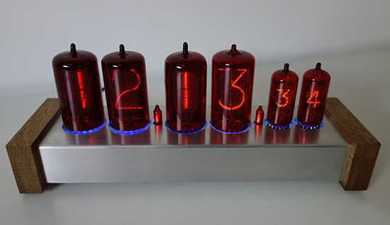 "nixie clock with 1,2"" and 0,5"" digit height"
