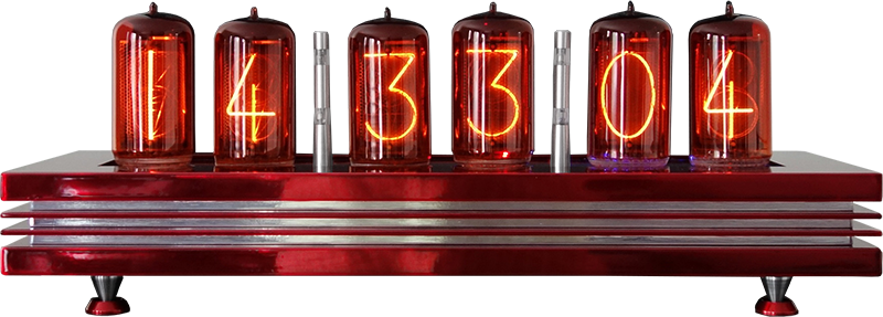 "nixie clock with 2"" digit height"